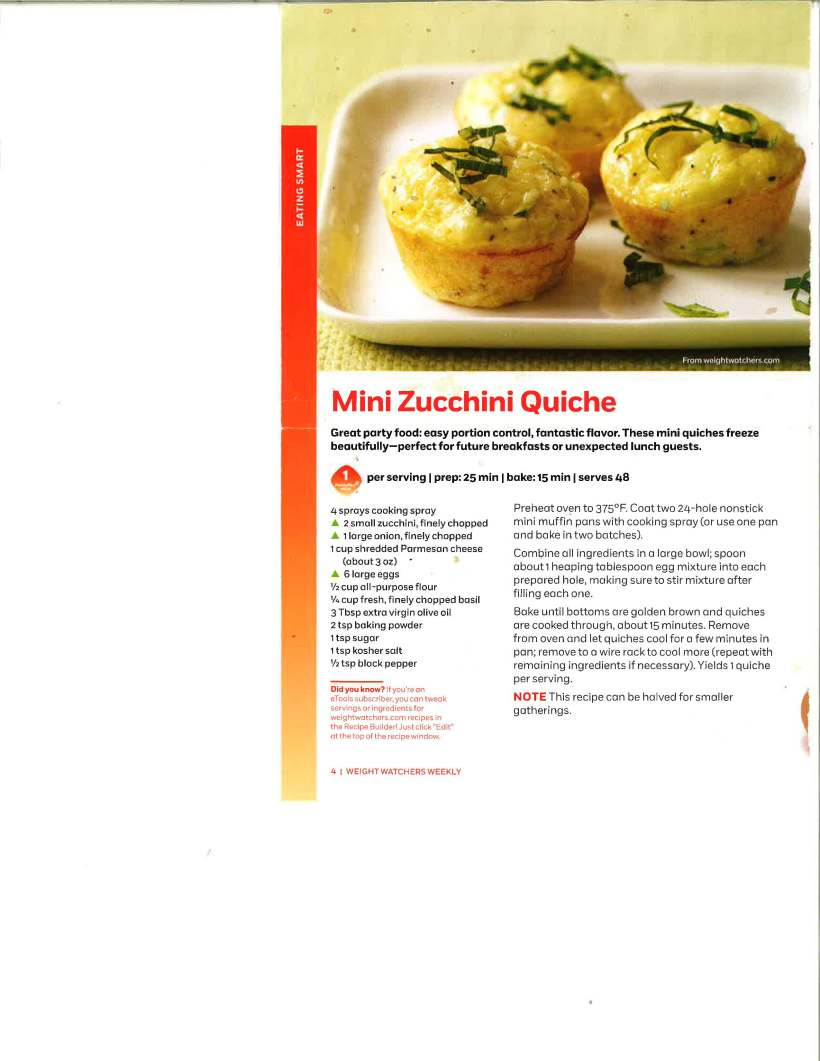 Mini Zucchini Quiche Recipe-Linda